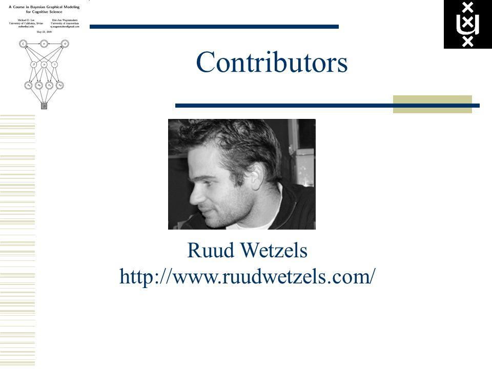 Contributors Ruud Wetzels http://www.ruudwetzels.com/