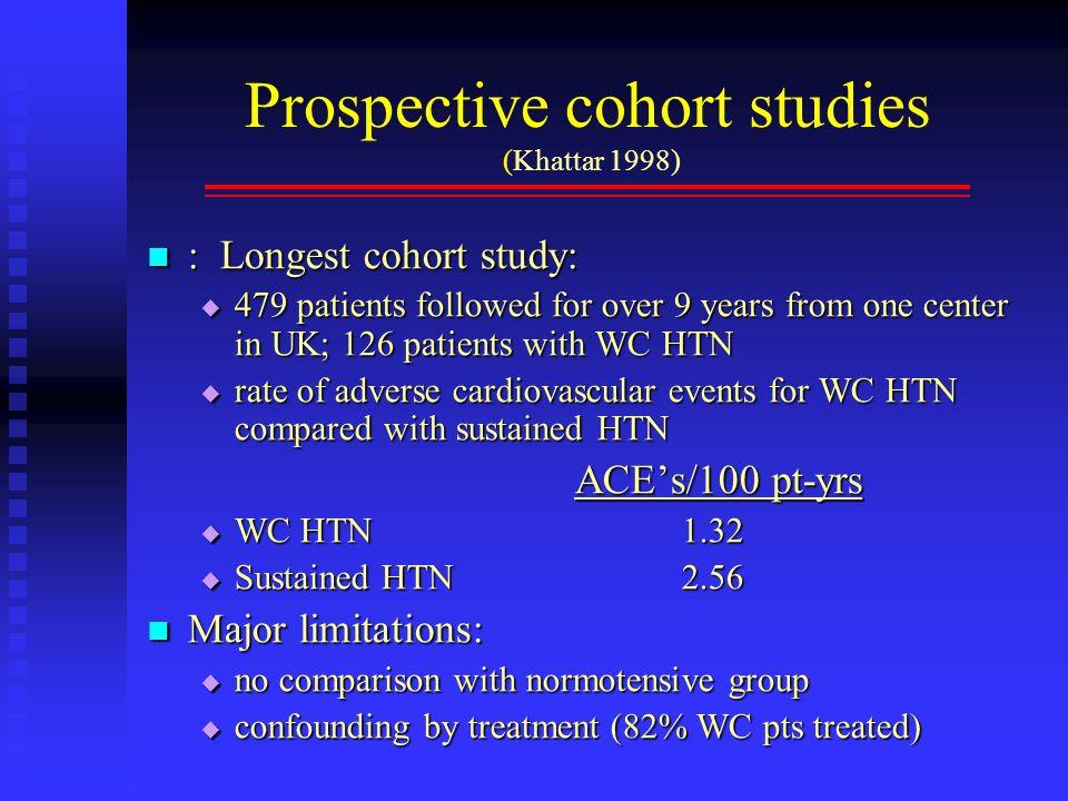 Prospective cohort studies (Khattar 1998)