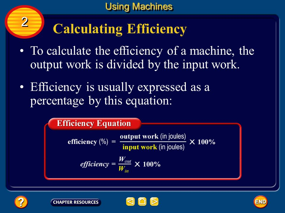 Calculating Efficiency