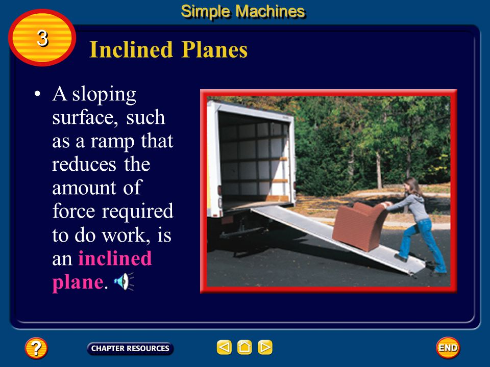 Simple Machines 3. Inclined Planes.