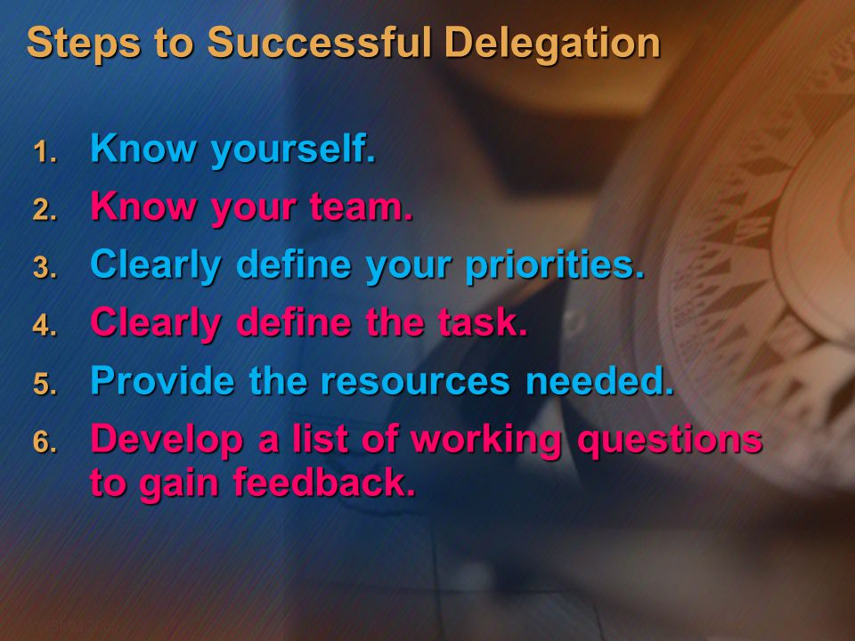 Steps to Successful Delegation