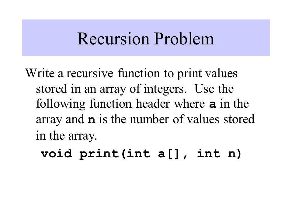 Recursion Problem