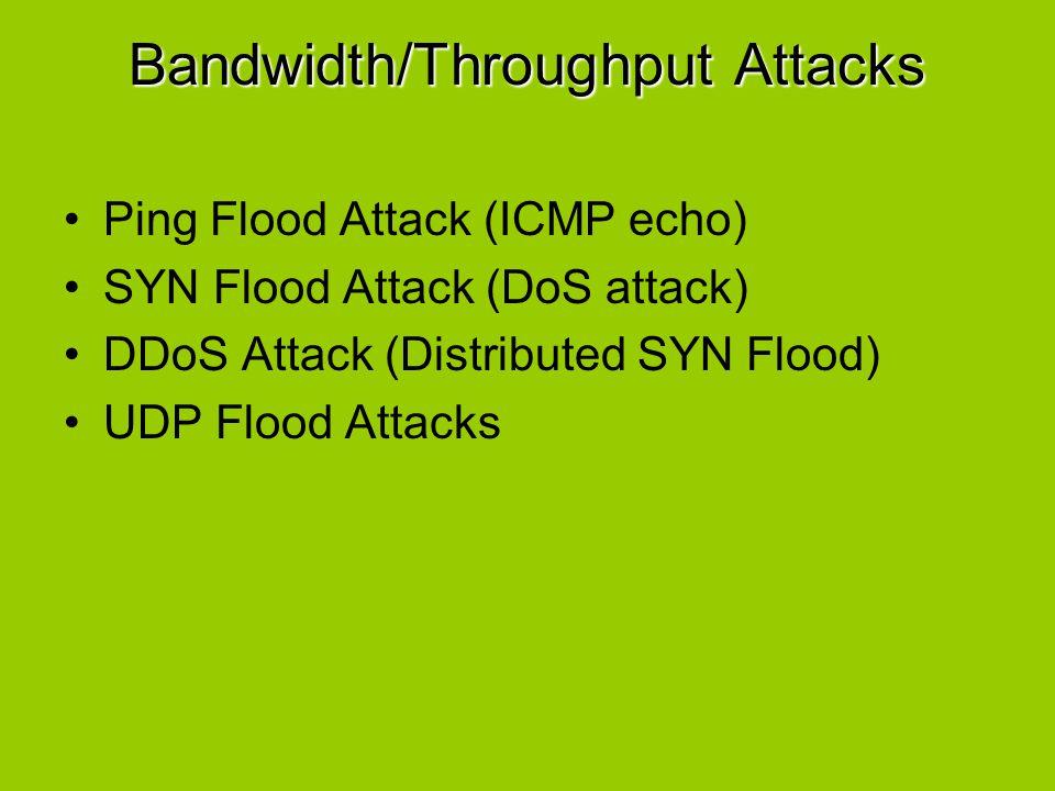 Bandwidth/Throughput Attacks