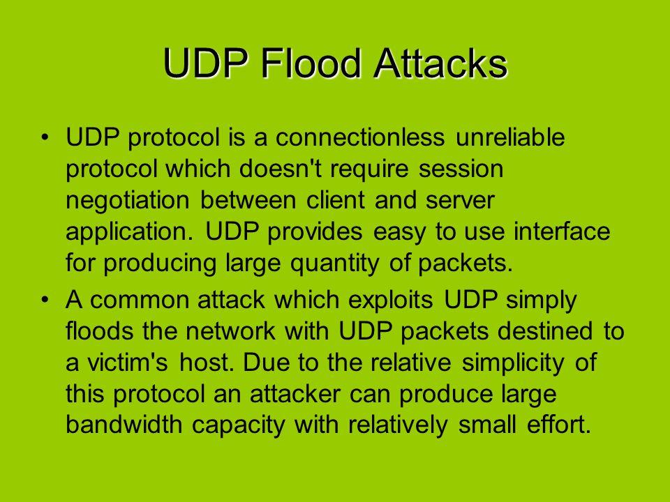 UDP Flood Attacks