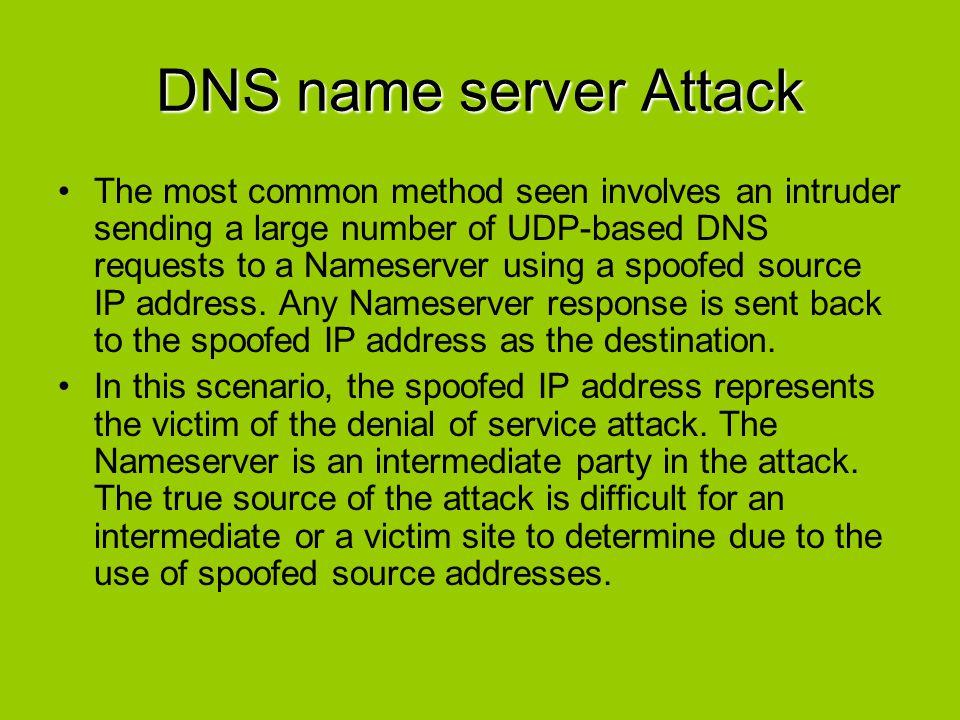 DNS name server Attack
