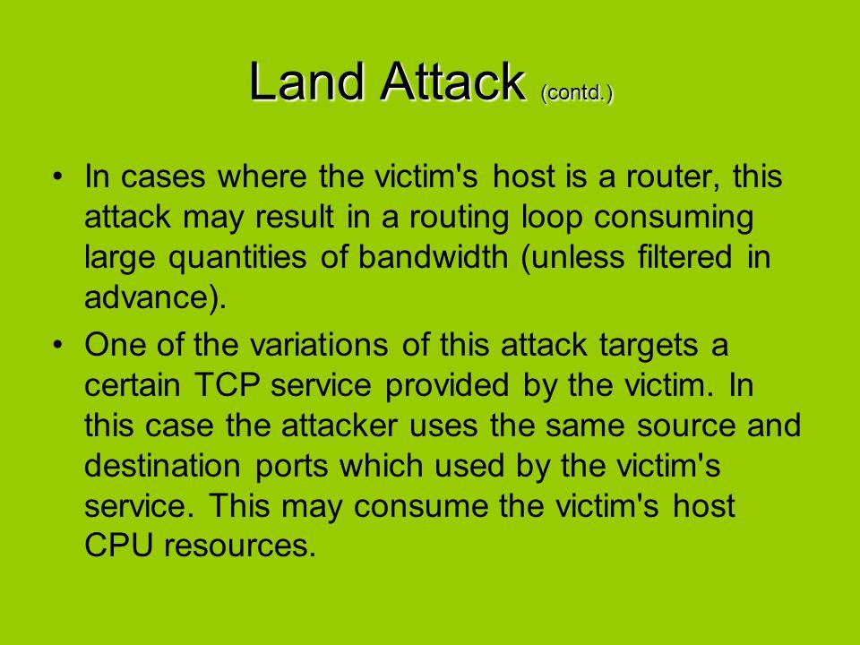 Land Attack (contd.)