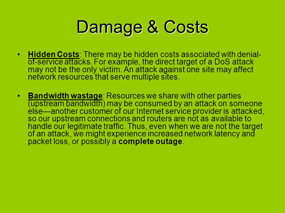 Damage & Costs