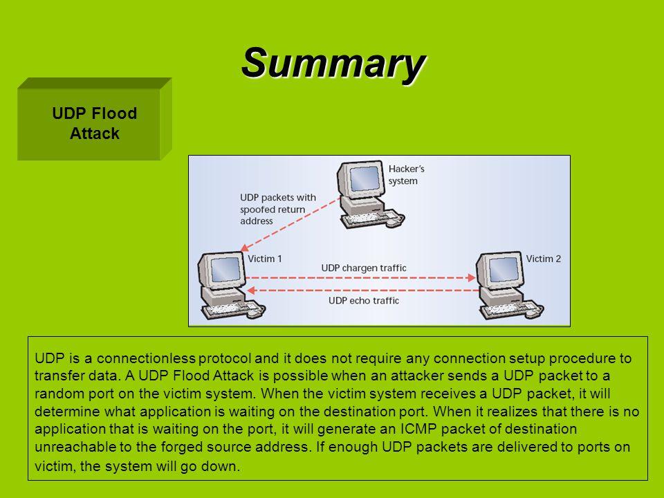 Summary UDP Flood Attack
