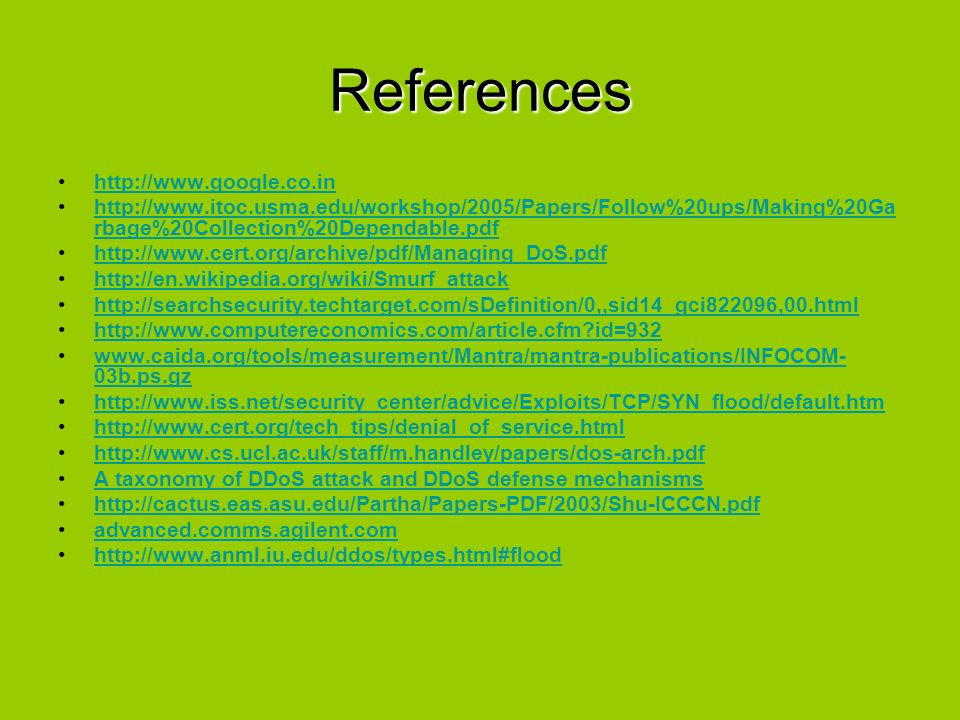 References http://www.google.co.in