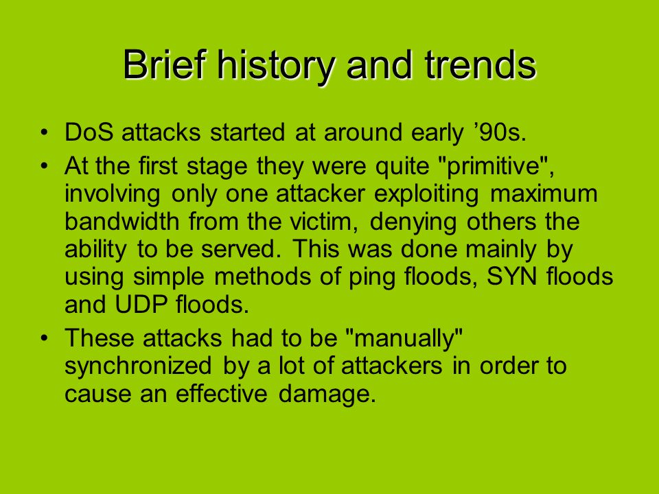 Brief history and trends