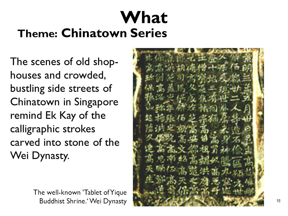 What Theme: Chinatown Series
