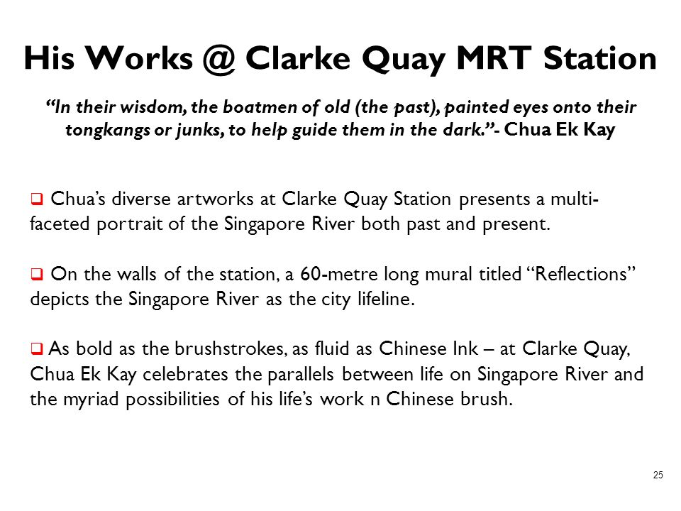 His Works @ Clarke Quay MRT Station