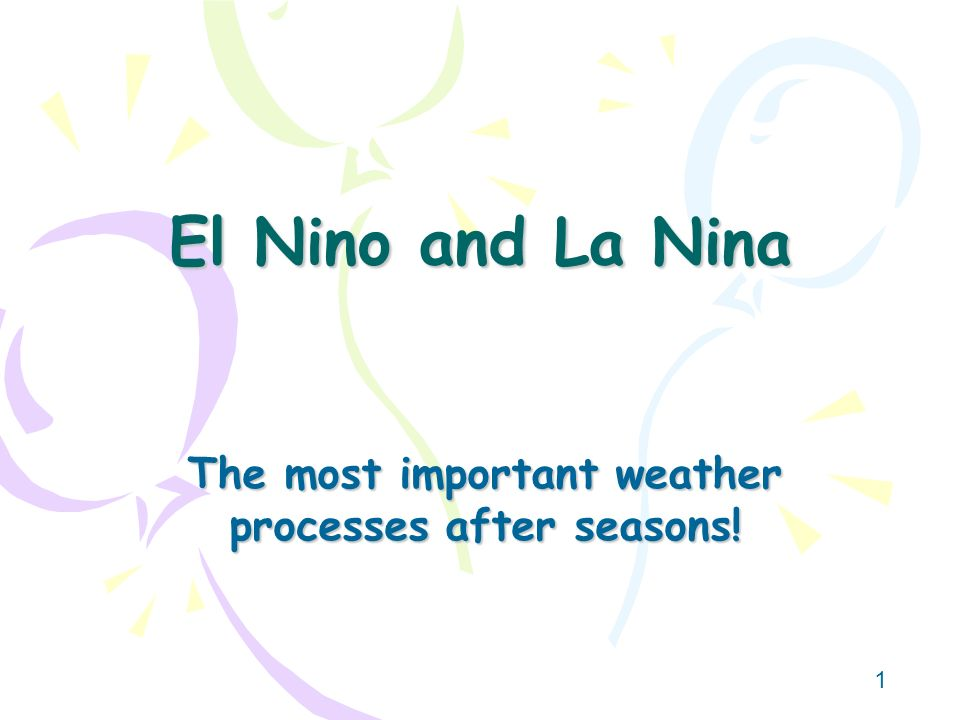 The most important weather processes after seasons!
