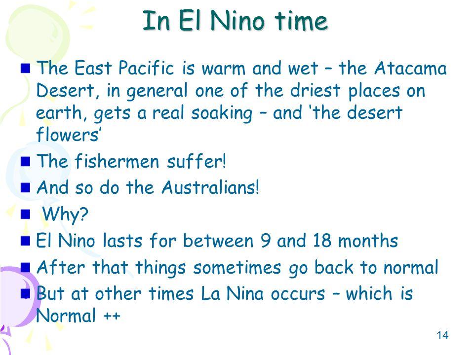 In El Nino time