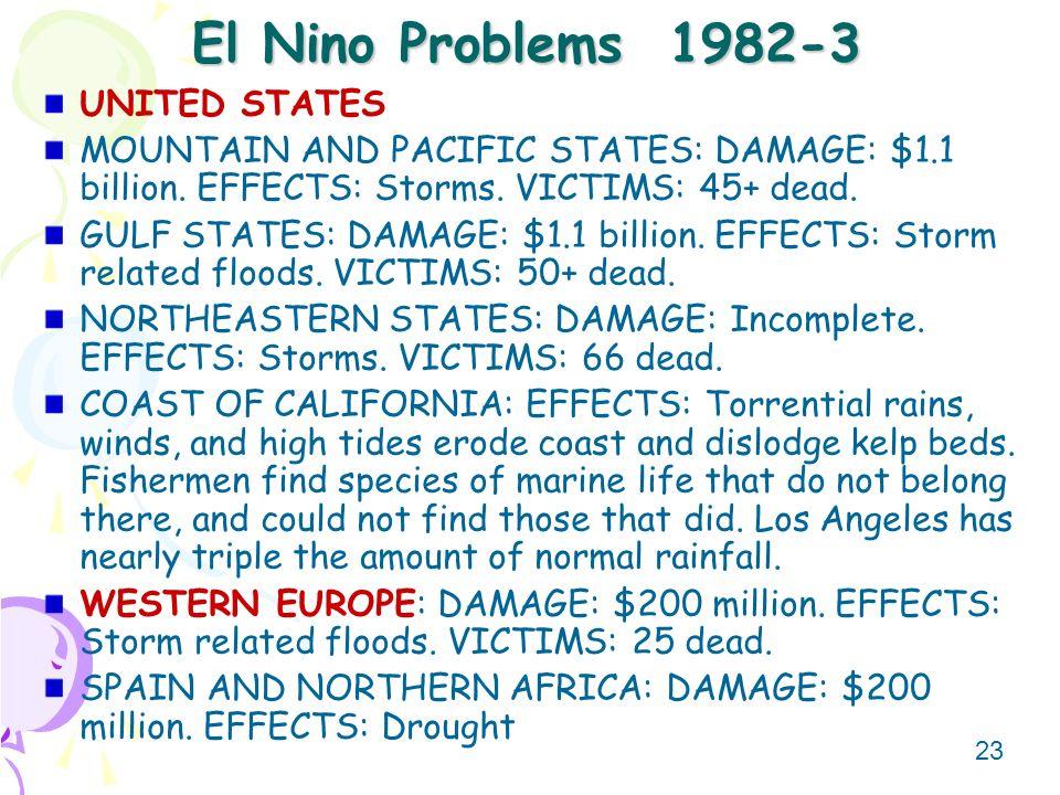 El Nino Problems 1982-3 UNITED STATES