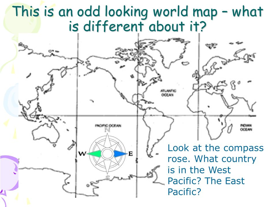 This is an odd looking world map – what is different about it