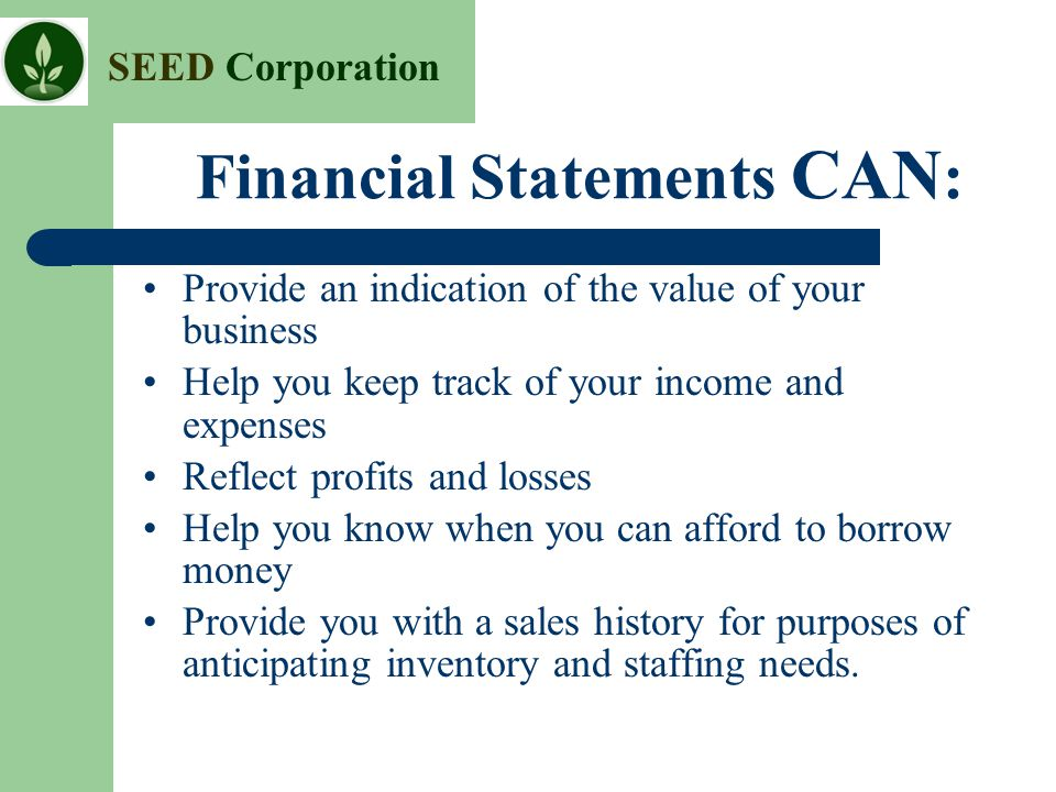 Financial Statements CAN: