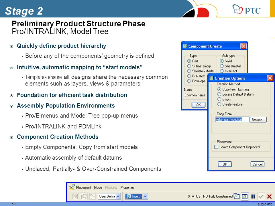 Preliminary Product Structure Phase Pro/INTRALINK, Model Tree