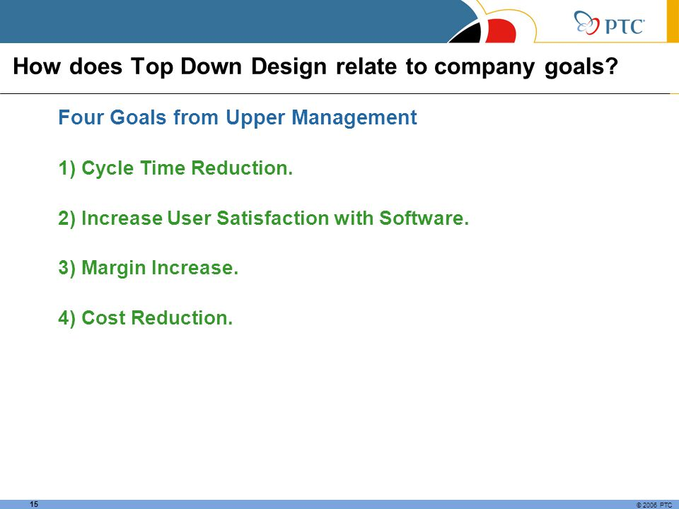 How does Top Down Design relate to company goals