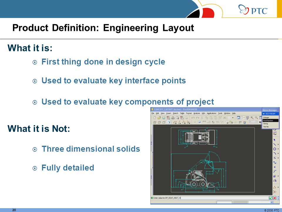 Product Definition: Engineering Layout