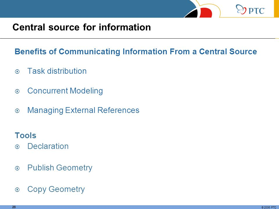 Central source for information