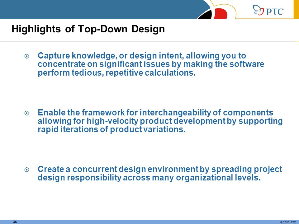 Highlights of Top-Down Design