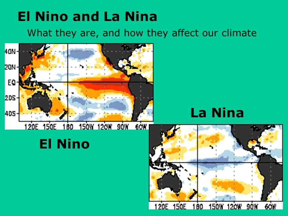 El Nino and La Nina What they are, and how they affect our climate