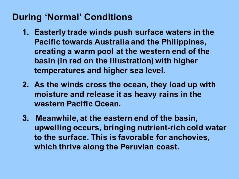 During 'Normal' Conditions