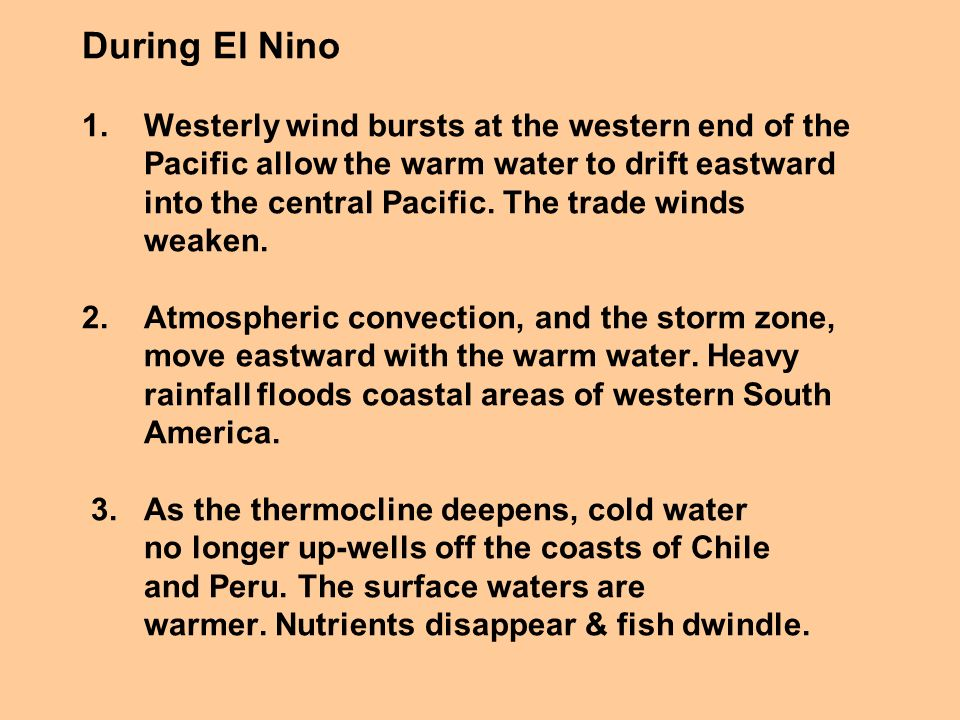 During El Nino 1.