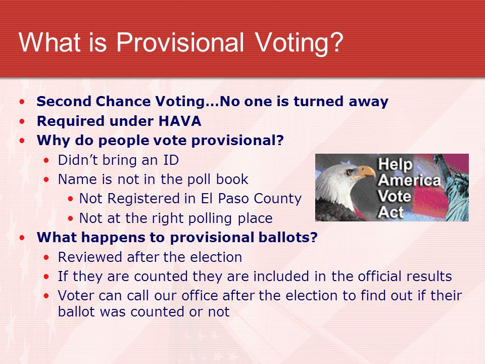What is Provisional Voting