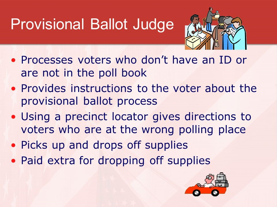 Provisional Ballot Judge