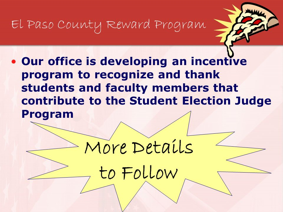 El Paso County Reward Program