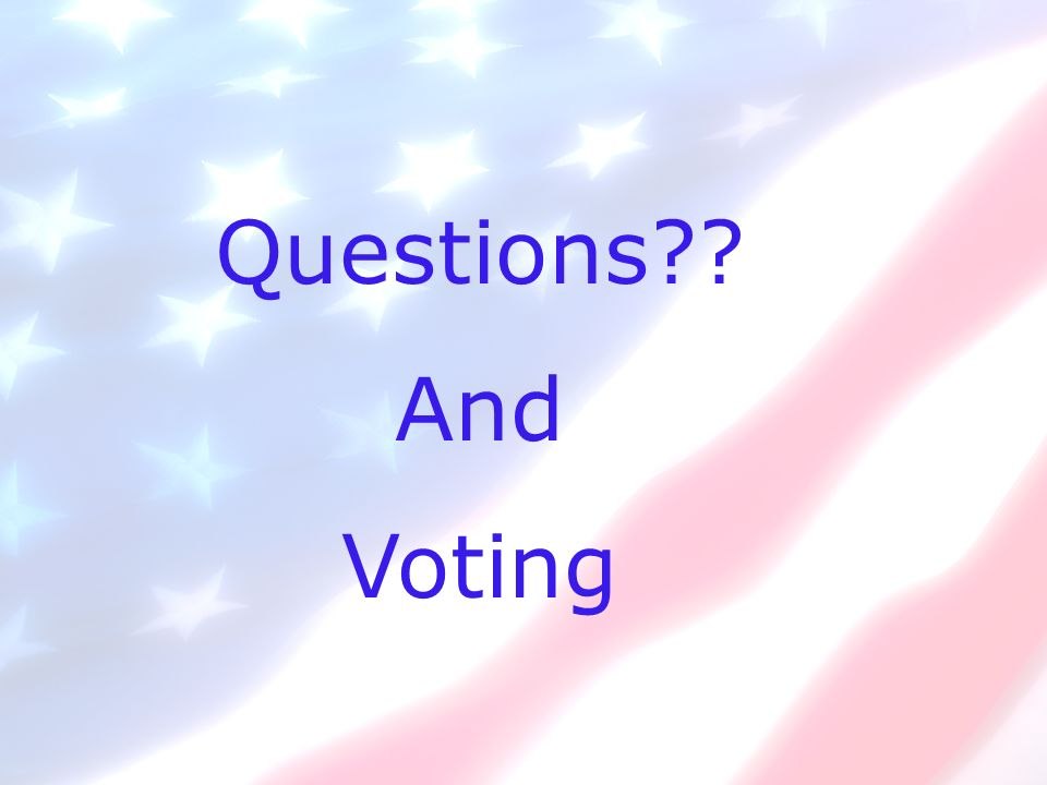 Questions And Voting