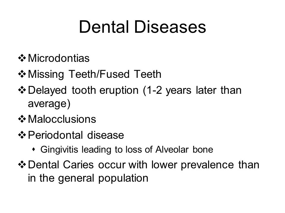 Dental Diseases Microdontias Missing Teeth/Fused Teeth