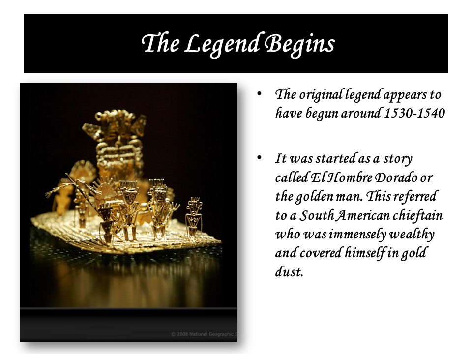 The Legend Begins The original legend appears to have begun around 1530-1540.