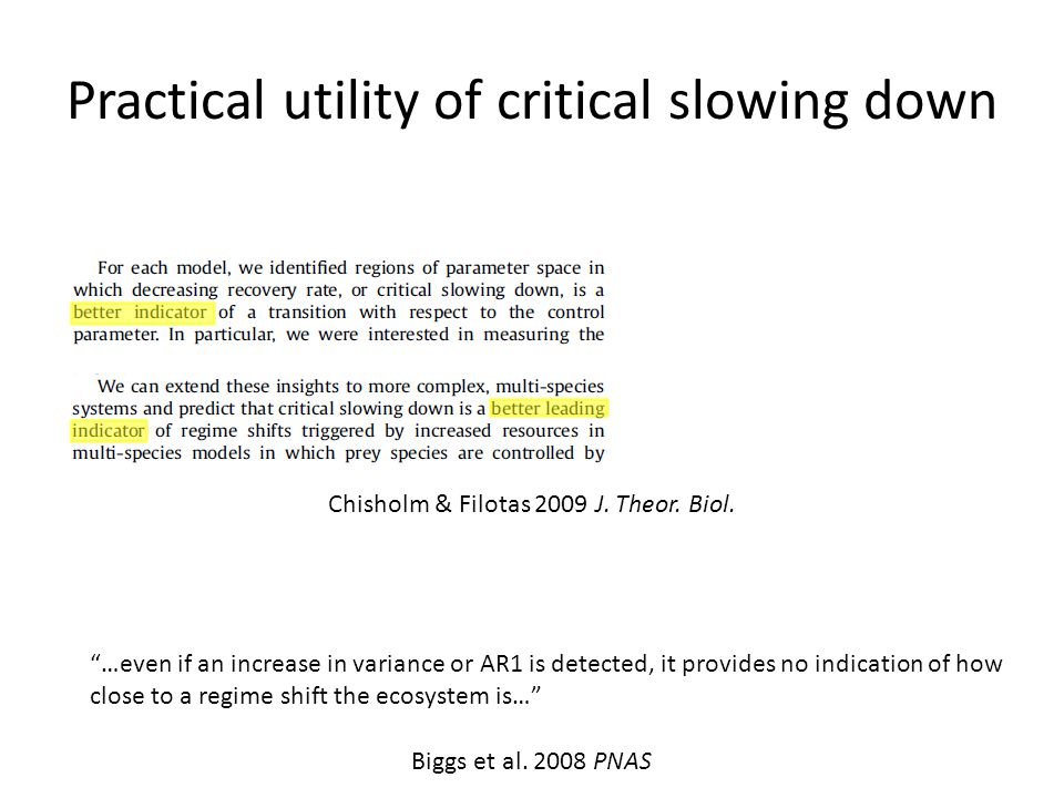 Practical utility of critical slowing down