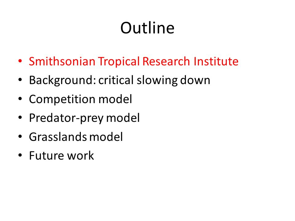 Outline Smithsonian Tropical Research Institute