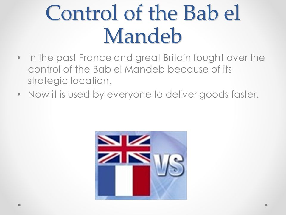 Control of the Bab el Mandeb