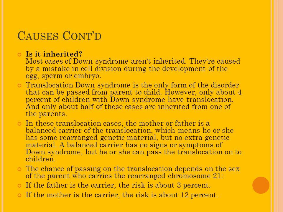 Causes Cont'd