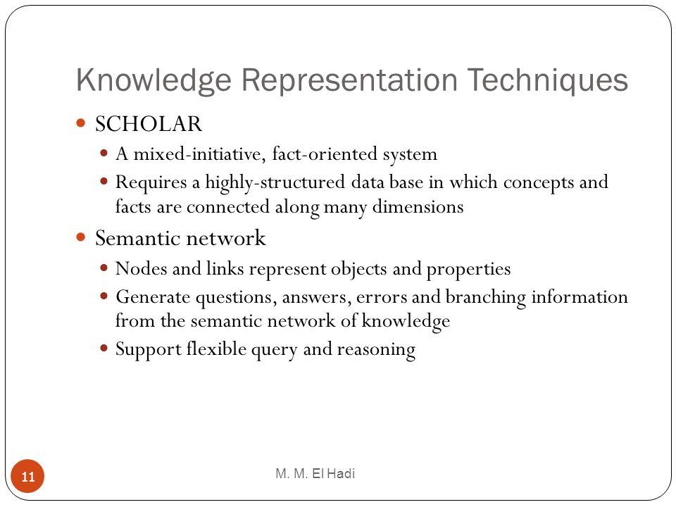 Knowledge Representation Techniques