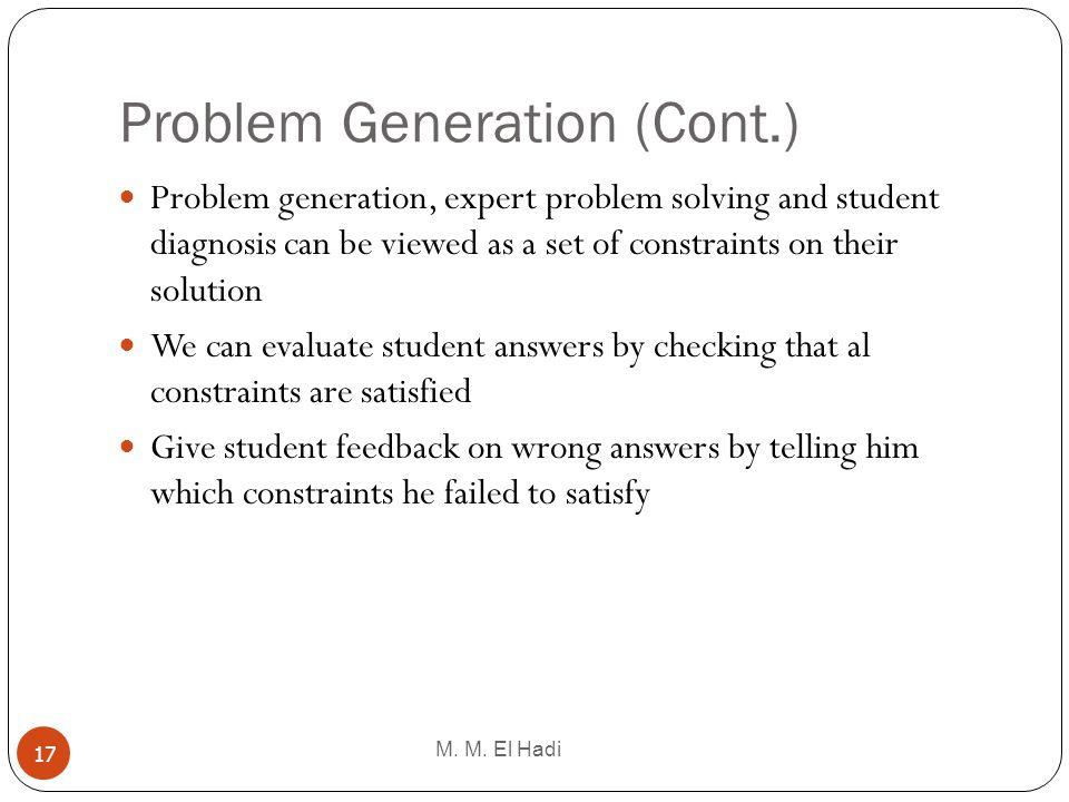 Problem Generation (Cont.)