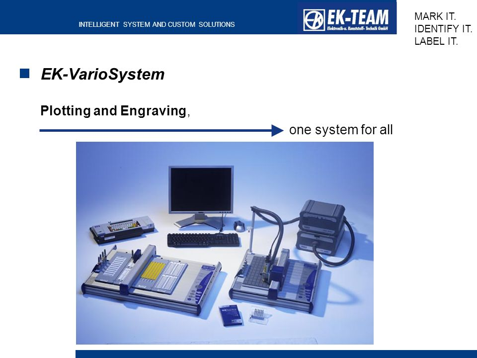 EK-VarioSystem Plotting and Engraving, one system for all