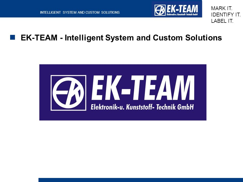 EK-TEAM - Intelligent System and Custom Solutions