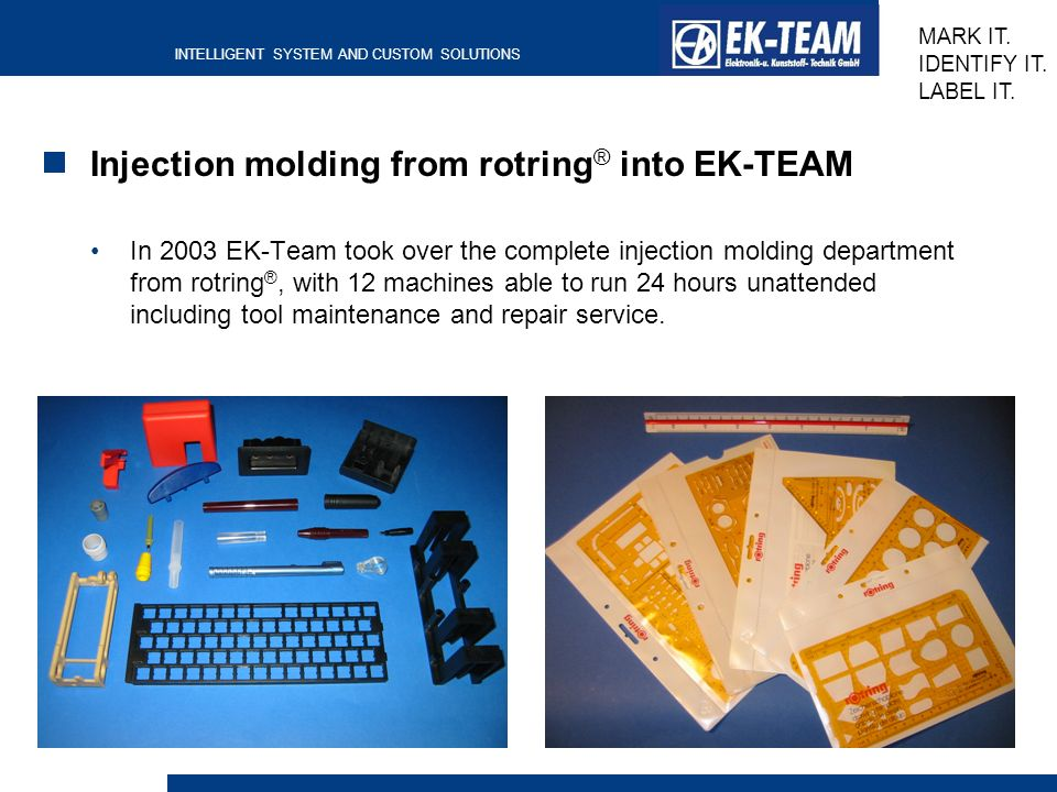Injection molding from rotring® into EK-TEAM