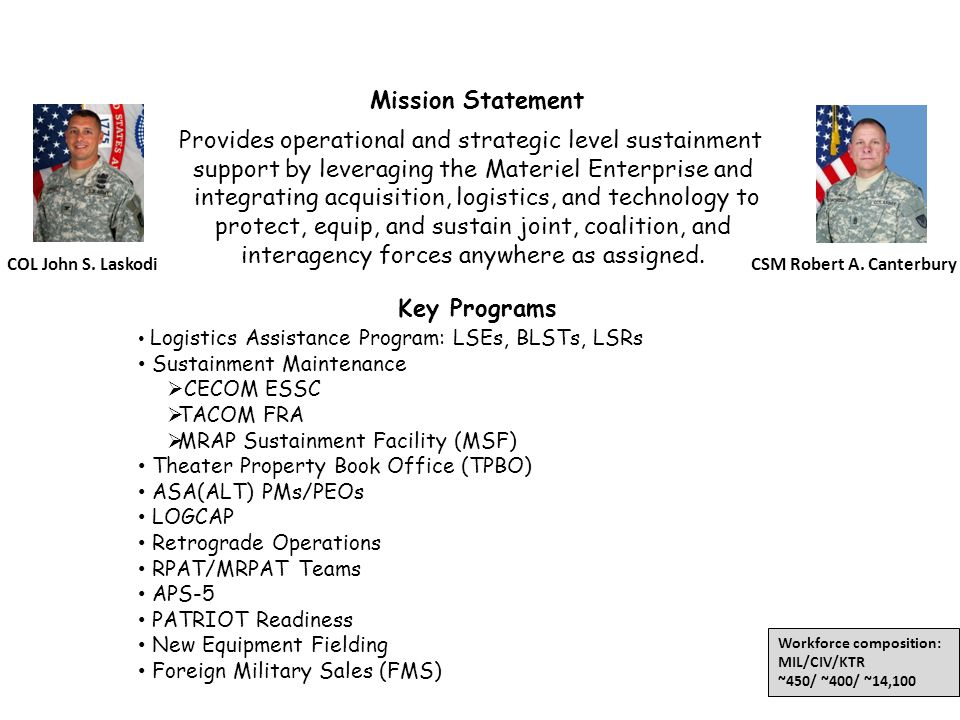 402nd AFSB Mission Statement