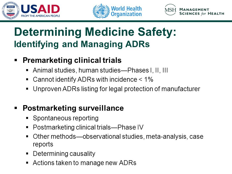 Determining Medicine Safety: Identifying and Managing ADRs