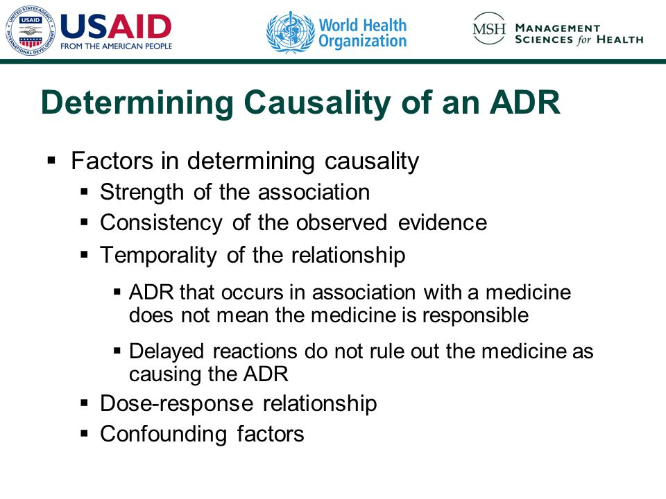 Determining Causality of an ADR