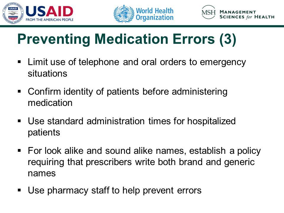 Preventing Medication Errors (3)