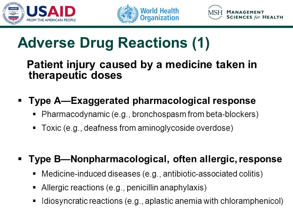 Adverse Drug Reactions (1)