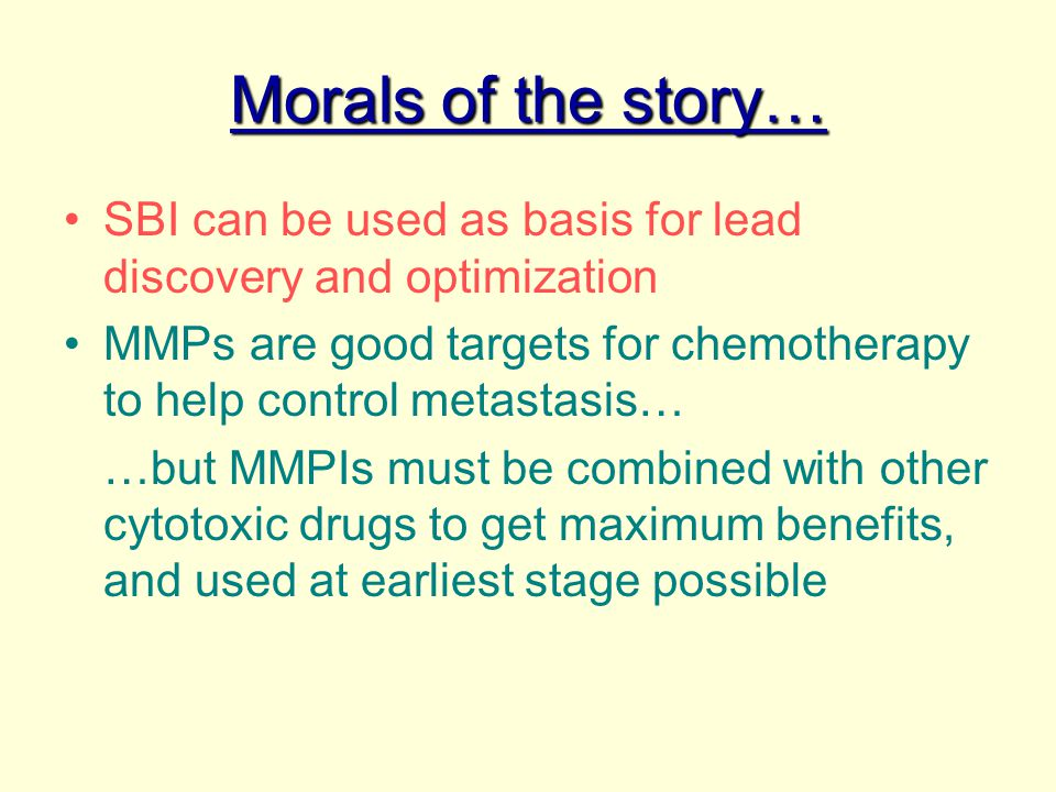 Morals of the story… SBI can be used as basis for lead discovery and optimization.